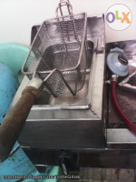 Burger Grill&Deep Fryer, Tank Gas. Set.3k With Utensils. Sale.