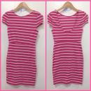 Pink White Stripes Dress
