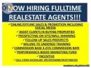 Commission base income, part time or full time agents wanted